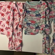 Set of 2 Baby Gap Girls Long Sleeve Pajamas Size 5 Photo