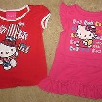 Set of 2 Hello Kitty Toddler Baby Girl's 24 Months 2t 4th July Top & Dress Lot Photo