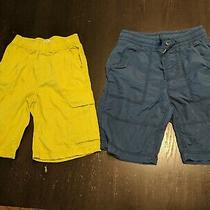 Set of 2 Pull on Shorts Gap Navy the Children's Place Lime Green Size 8 Photo