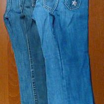 Set of 4 Girls Jeans Size 7 Slim Gap Old Navy Bootcut Skinny Lot B55 Photo