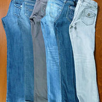 Set of 6 Girls Jeans Size 6 6 Slim Gap Gymboree Old Navy Bootcut Skinny Lot B56 Photo