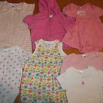 Set of 7 Nb 0-3m Baby Gap Outfits Rompers Creepers Hoodie Jacket & Knit 1 Piece Photo
