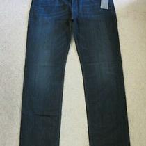 Seven 7 for All Mankind Slimmy Straight Leg Jeans Dark Blue 199 Sz 40 (40 X 35) Photo