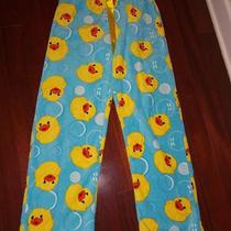 Seven Apparel Aqua Fleece With Yellow Ducks Sleep Pants Size L Photo