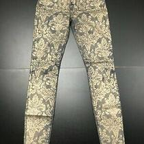 Seven for All Mankind Skinny Leg Printed Denim Jeans Size 25 Photo