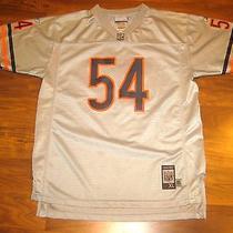 Sewn Reebok Chicago Bears Brian Urlacher Youth Xl Silver Football Jersey Small Photo