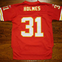 Sewn Reebok Kansas City Chiefs Priest Holmes Youth Medium Football Nfl Jersey Xs Photo