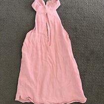 Sexy Blush Pink Keyhole Choker Top - Size 6 Photo