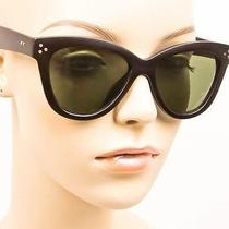 Sexy Cat Eye Matte Black Green Pin Up Celine Style Preppy Hot Sunglasses 6249 Mt Photo