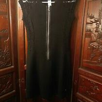 Sexy Costume Guess Zipper Black Mini Dress Dominatrix Steam Punk Black Lace   Photo