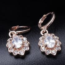 Sexy Design Hot Rose Gold Filled C.z Women Lady Dangle Earrings Jewelry Cz0199 Photo