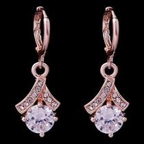 Sexy Fashion Hot Rose Gold Filled C.z Women Lady Earrings Jewelry Cz0100 Photo