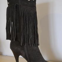 Sexy Guess Suede Fringe Boots Size 8 Photo