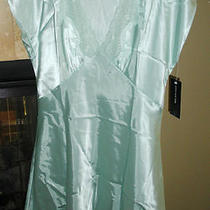 Sexy Jones New York Satin Nightgown/chemise/sleepwear/size M/aqua/seafoam Photo