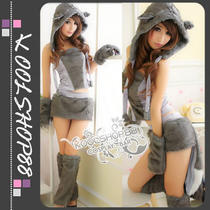 Sexy Kitty Furry Cat Halloween Costumes Fancy Dress Clubwear Photo