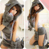 Sexy Kitty Furry Cat Halloween Costumes Fancy Dress Party Clubwear Photo