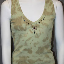 Sexy Ladies Guess Jeans Sleeveless Top With Great Medal and Stone Details  Photo
