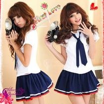 Sexy Lingerie Babydoll Sailor Uniform Cosplay Dress Skirt Fancy Costumes H99 Photo