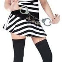 Sexy Mug Shot Fantasy Prisoner Convict Mini Dress Shot Glasses S/m Fw122424sd Photo