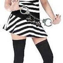 Sexy Mug Shot Fantasy Prisoner Costume Fw122424 New Photo