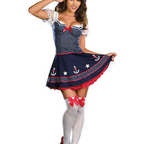 Sexy Nautical Navy Sailor Pin Up Girl Fancy Dress Costume Halloween Uniform M/xl Photo