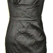 Sexy New Bcbg Max Azria Black Satin Strapless Dress Corset Bodice Size 8 Nwt Photo