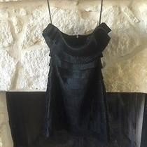 Sexy Party Cocktail Express Strapless Little Black Dress Tiered Ruffles Size 2 Photo