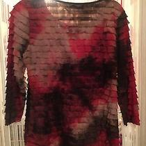 Sexy Ruffle Top Pl Red and Brown Colors Elementz Worn Once Photo