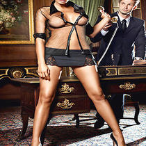 Sexy Secretary Lingerie Costume Mini Dress Babydoll Set Bedroom Fantasy Y5540 Photo