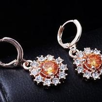 Sexy Shine Hot Rose Gold Filled C.z Women Lady Dangle Earrings Jewelry Cz0143 Photo