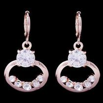 Sexy Style Hot Rose Gold Filled C.z Women Lady Dangle Earrings Jewelry Cz0137 Photo