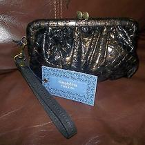 Sexyvera Wang Simply Vera Shimmer Faux Snakeskin Kisslock Coin Purse Nwt Photo