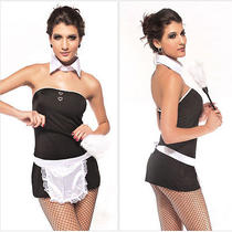 Sexy Women Maid Servant Costume Fantasy Clothes Cosplay Lingerie Outfit Photo