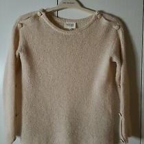 Sezane Blush Pink Mohair and Alpaca Sweater Size Xs Side Buttons Photo