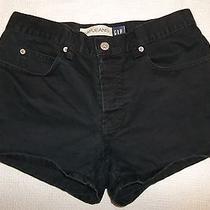 Sh40  Gap Sz 2 Womens Cotton  Black Button Fly Short Shorts (Tape28 X 3) Photo