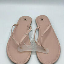 Shade and Shore Ava Womens Sz 11 Skinny Strap Flip Flop Sandals Blush Pink Nwt Photo