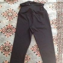 Shapewear Activewear Run High Waisted Capri Leggings Yummie Tummie Medium Black Photo