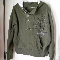 Sharp Hurley Mens Large Hoodie Lined Pullover Grunge Sweatshirt Tree Design Photo