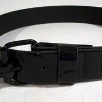 Sharp New Chrome by Westside Black With Black Shine Belt Mens Size 42 Photo