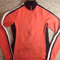 Shebeest L Orange/black Long Sleeve 1/2 Zip Front Bike Cycling Shirt Jersey Ked Photo