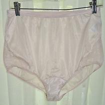 Sheer Nylon Brief Panties Vanity Fair Sz 7 Blush Lace Inset Vintage Lingerie Photo
