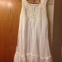 Sheer White Babydoll Style Dress by Blush S Xs Womens Photo