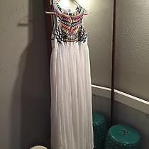 Sheinside Tribal Embroidered Maxi Dress New (Like Mara Hoffman)  Photo