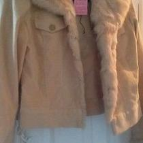 Sheri Bodell Corduroy Jacket With Rabbit Trim ( Size l) Photo