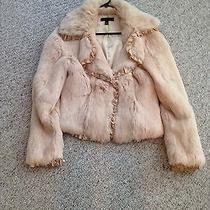 Sheri Bodell Nude Beige Rabbit Fur Ruffle Beaded Jacket Photo