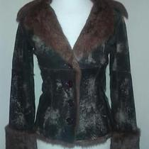 Sheri Bodell Rabbit Fur Jacket/coat Brown/tan Size P Photo