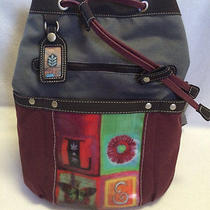 Sherpani Elements Sonoma Love Burgundy Art Backpack Bucket Bag Purse Photo