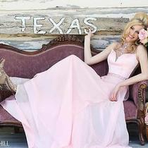Sherri Hill 32144 Blush Pageant Prom Gala Gown Dress Sz 8 Photo