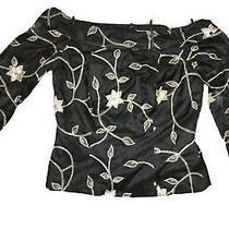 Sherrie Bloom Peter Noviello Chetta B Silk Off the Shoulder Top Size6 370 Photo