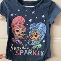 Shimmer and Shine Genies Little Girls Child Tee Shirt Blue Size 5 Photo